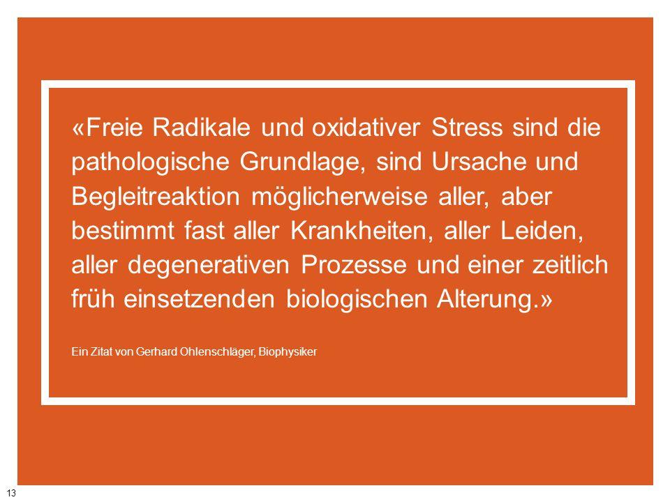 «Freie Radikale und oxidativer Stress sind die