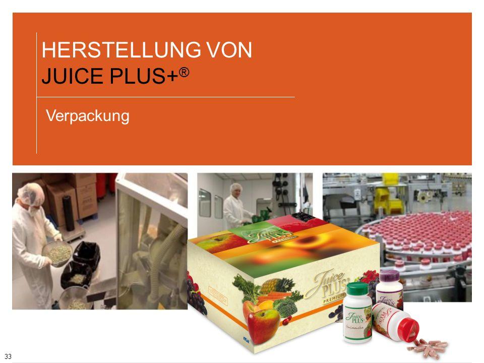 HERSTELLUNG VON JUICE PLUS+®