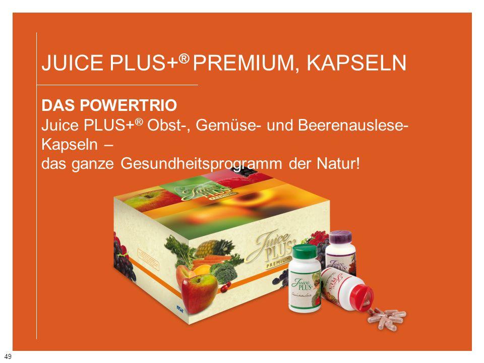 JUICE PLUS+® PREMIUM, KAPSELN