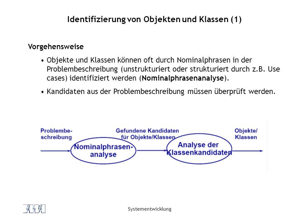 Identifizierung von Objekten und Klassen (1)