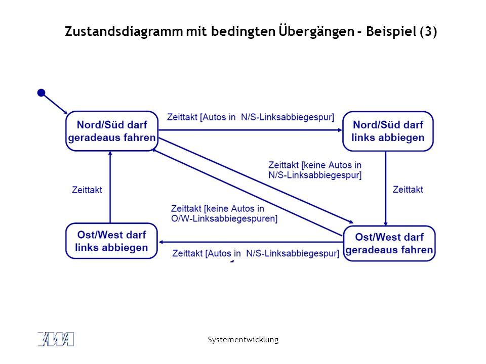 Zustandsdiagramm mit bedingten Übergängen - Beispiel (3)