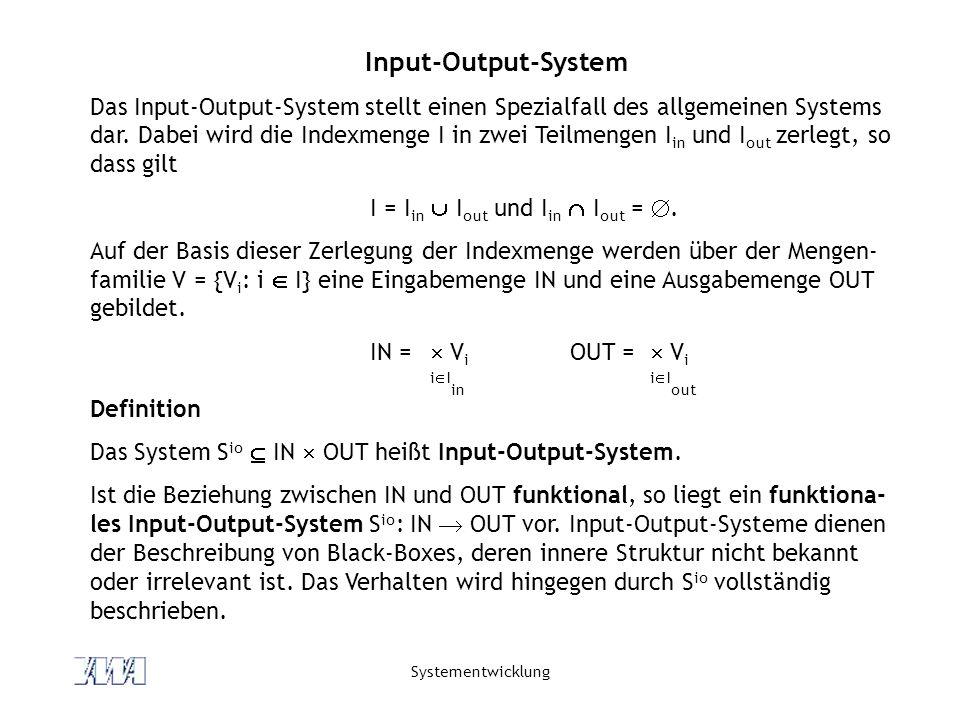 Input-Output-System