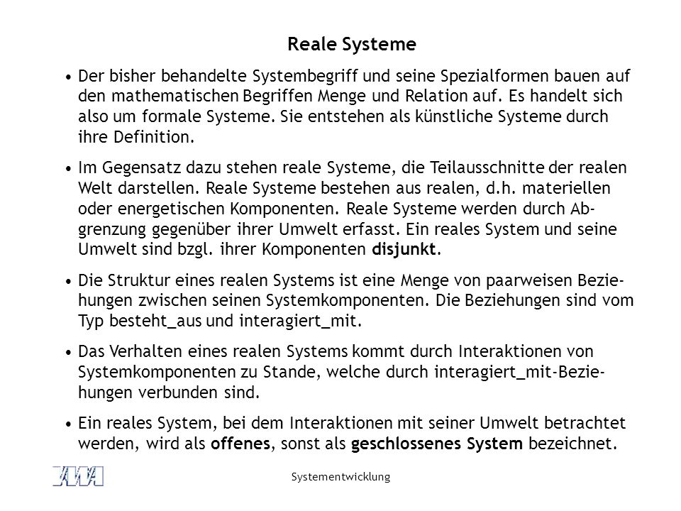 Reale Systeme