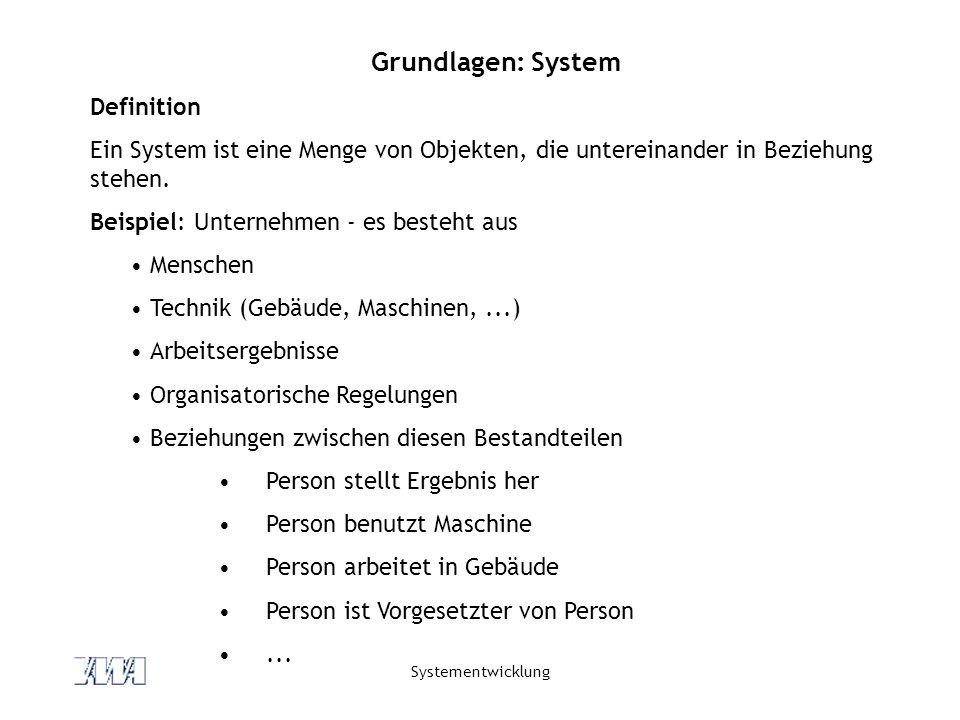 Grundlagen: System Definition