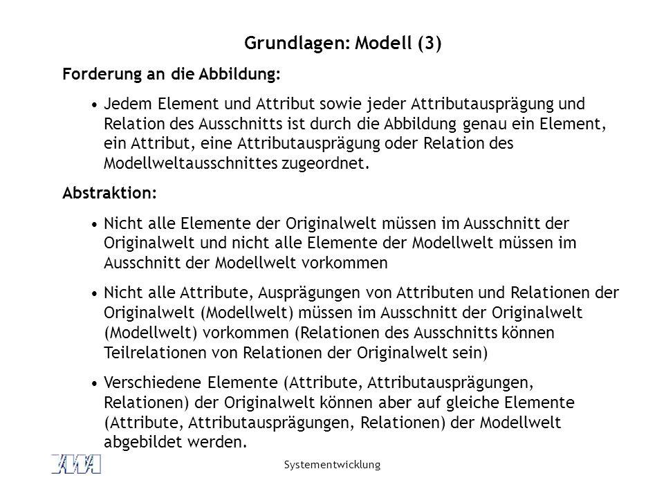 Grundlagen: Modell (3) Forderung an die Abbildung: