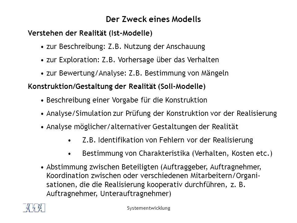 Der Zweck eines Modells
