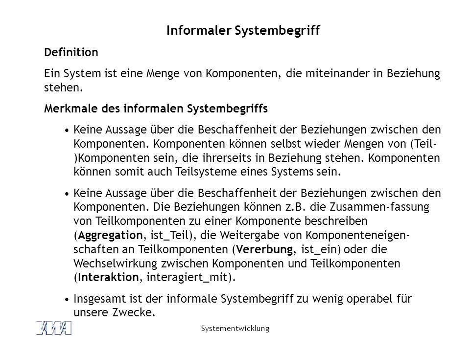 Informaler Systembegriff