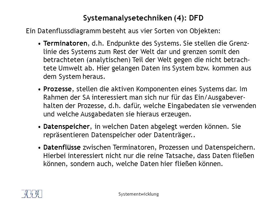 Systemanalysetechniken (4): DFD