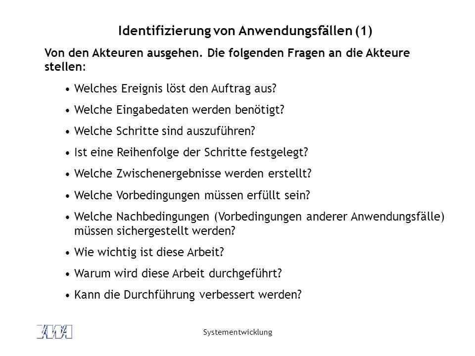 Identifizierung von Anwendungsfällen (1)