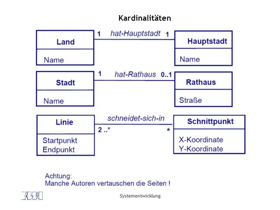 Kardinalitäten Systementwicklung