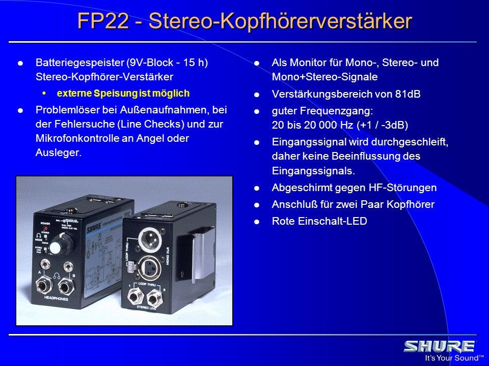 FP22 - Stereo-Kopfhörerverstärker