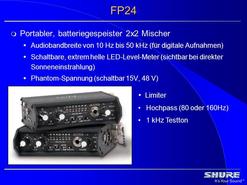 FP24 Portabler, batteriegespeister 2x2 Mischer Limiter