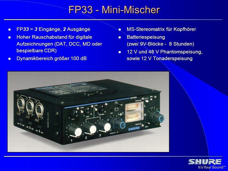 FP33 - Mini-Mischer FP33 = 3 Eingänge, 2 Ausgänge