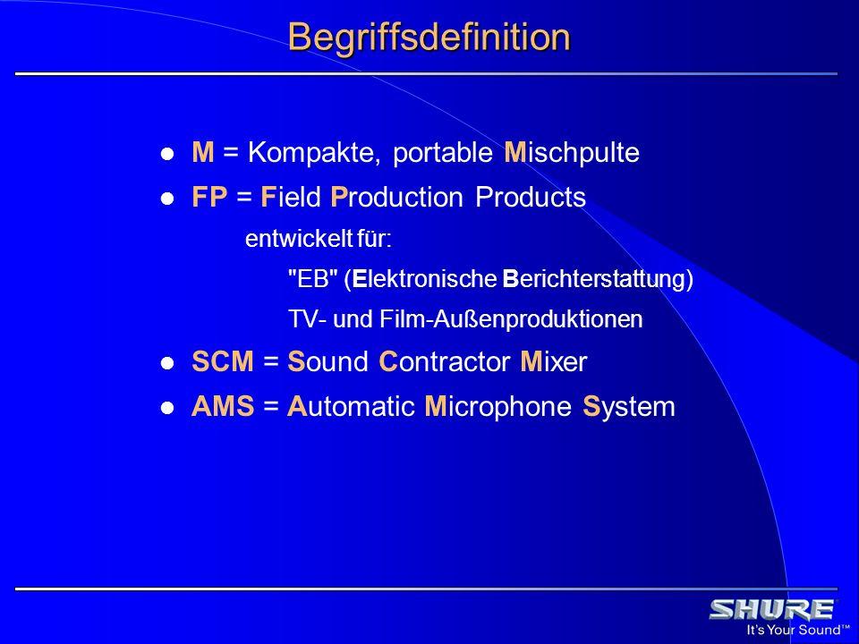 Begriffsdefinition M = Kompakte, portable Mischpulte
