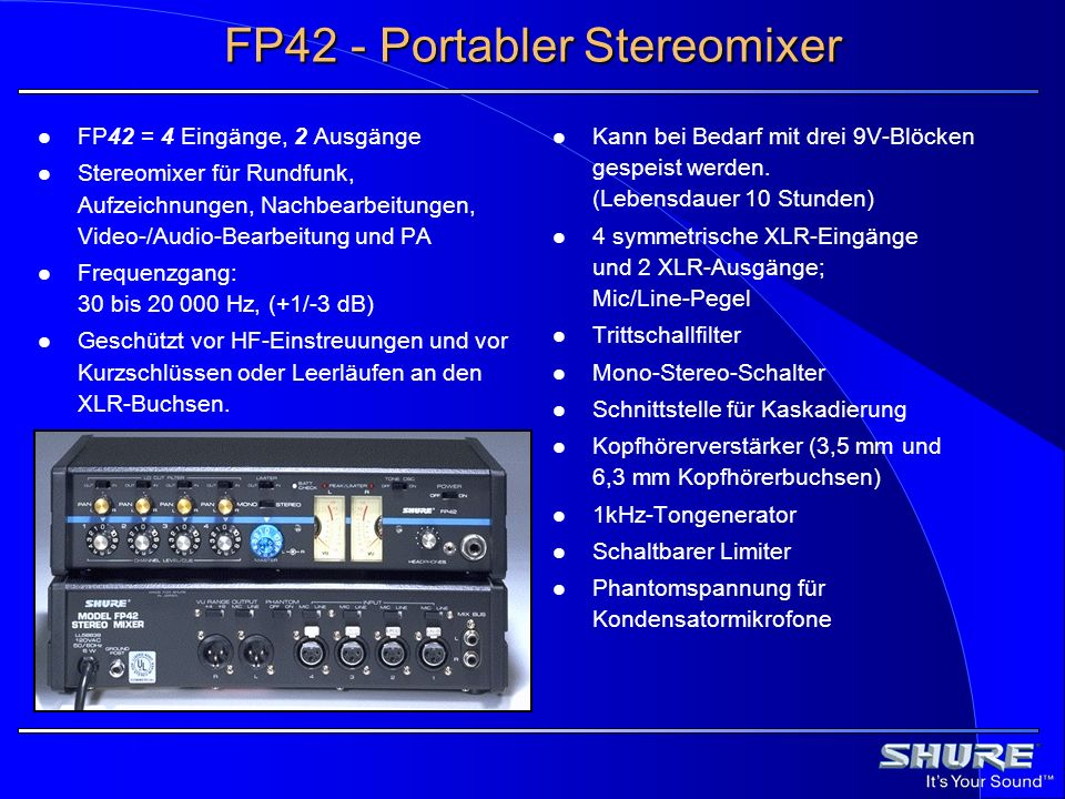 FP42 - Portabler Stereomixer