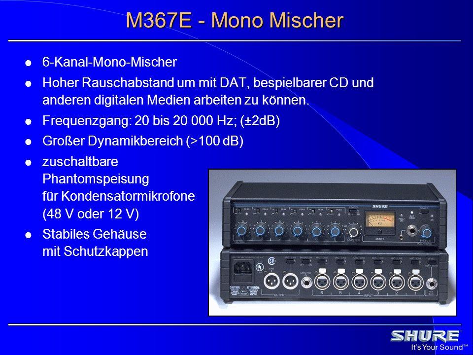 M367E - Mono Mischer 6-Kanal-Mono-Mischer