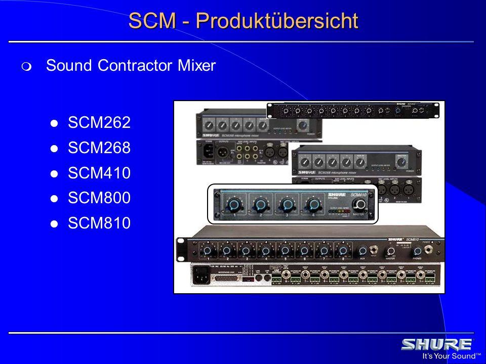 SCM - Produktübersicht
