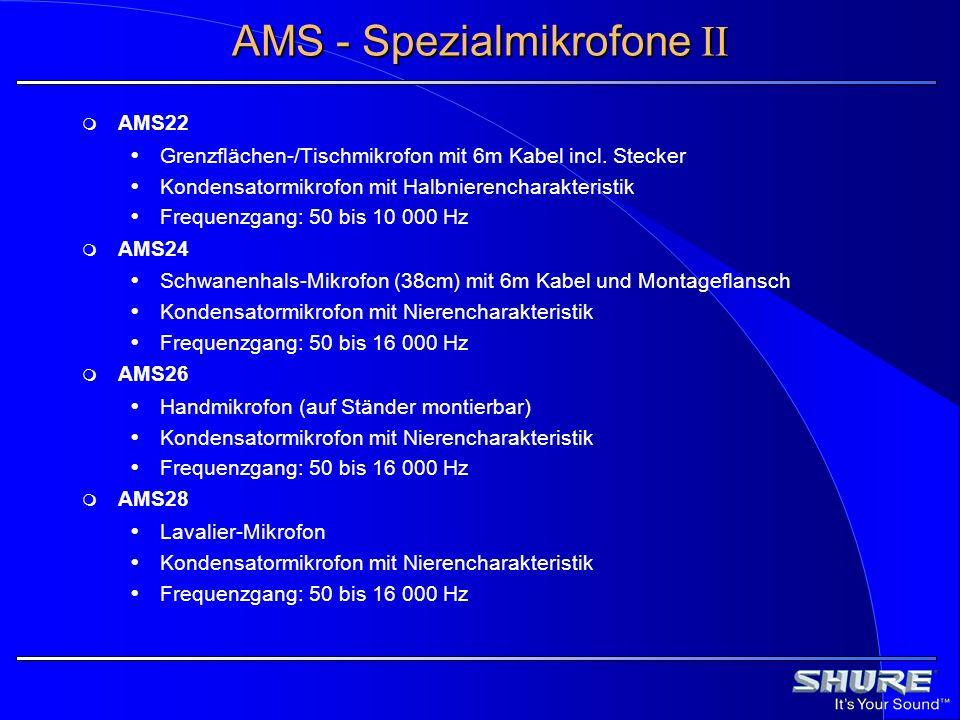 AMS - Spezialmikrofone II