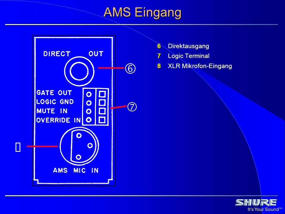 † AMS Eingang ‡ ˆ 6 Direktausgang 7 Logic Terminal