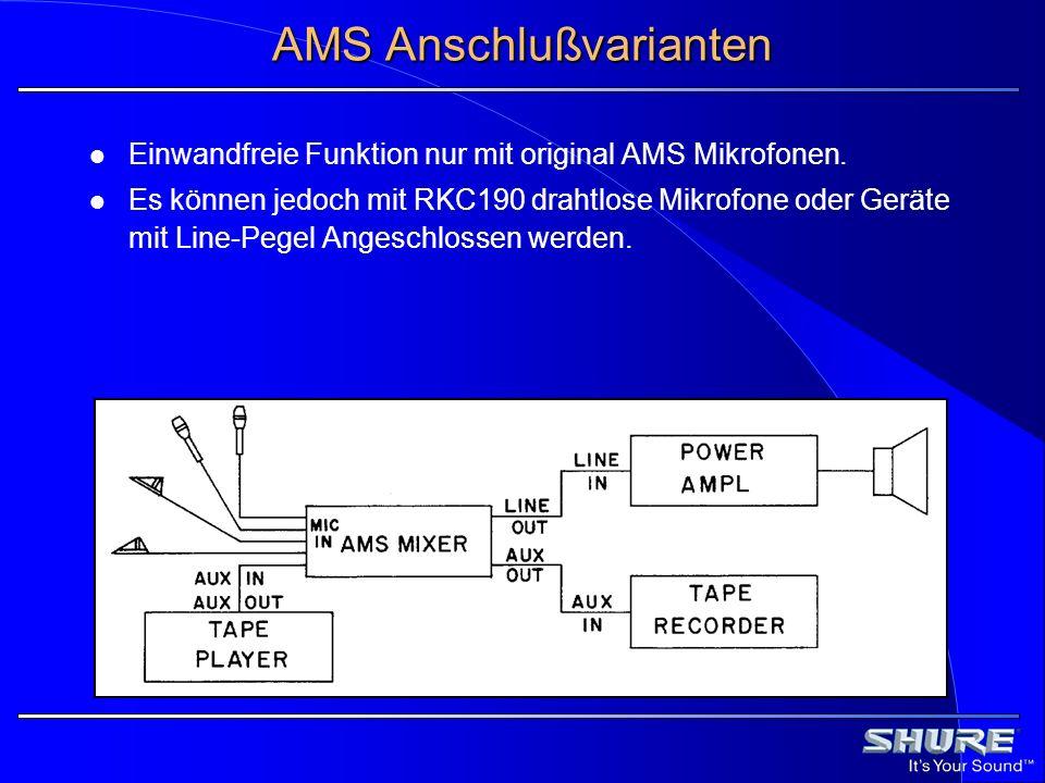 AMS Anschlußvarianten