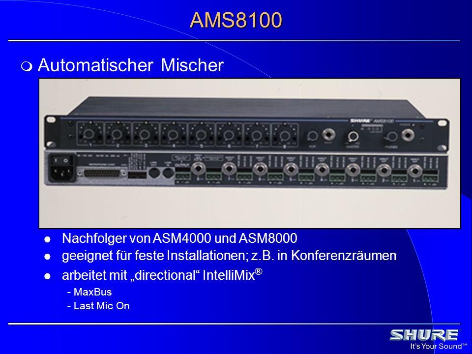 AMS8100 Automatischer Mischer Nachfolger von ASM4000 und ASM8000