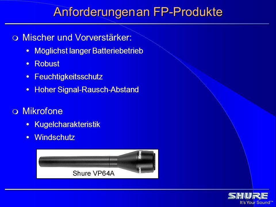 Anforderungen an FP-Produkte