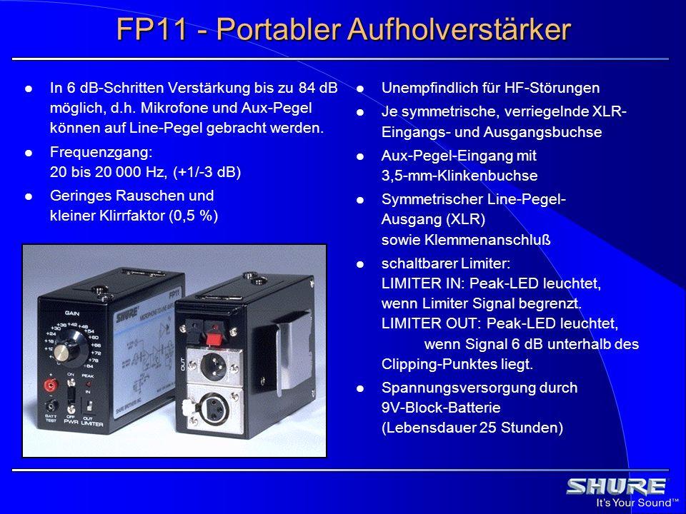 FP11 - Portabler Aufholverstärker