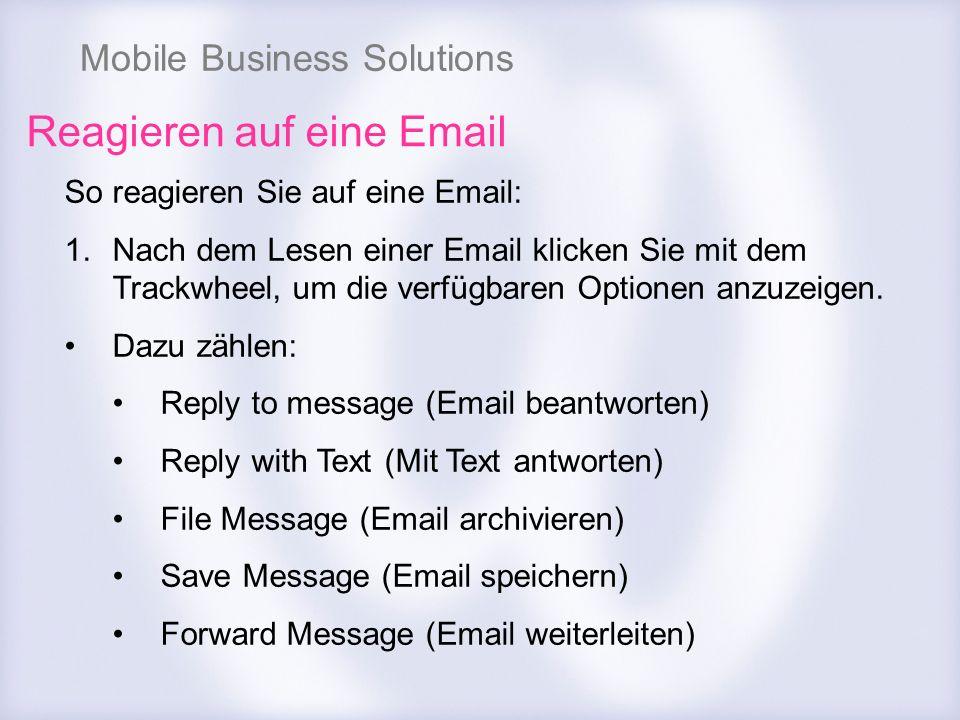 Reagieren auf eine Email