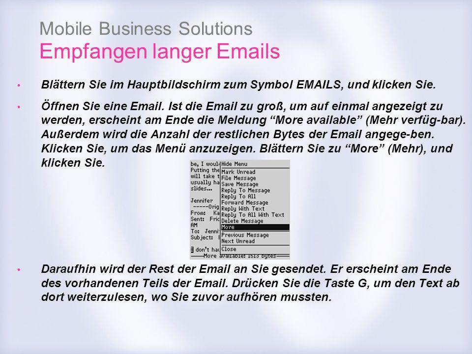 Empfangen langer Emails
