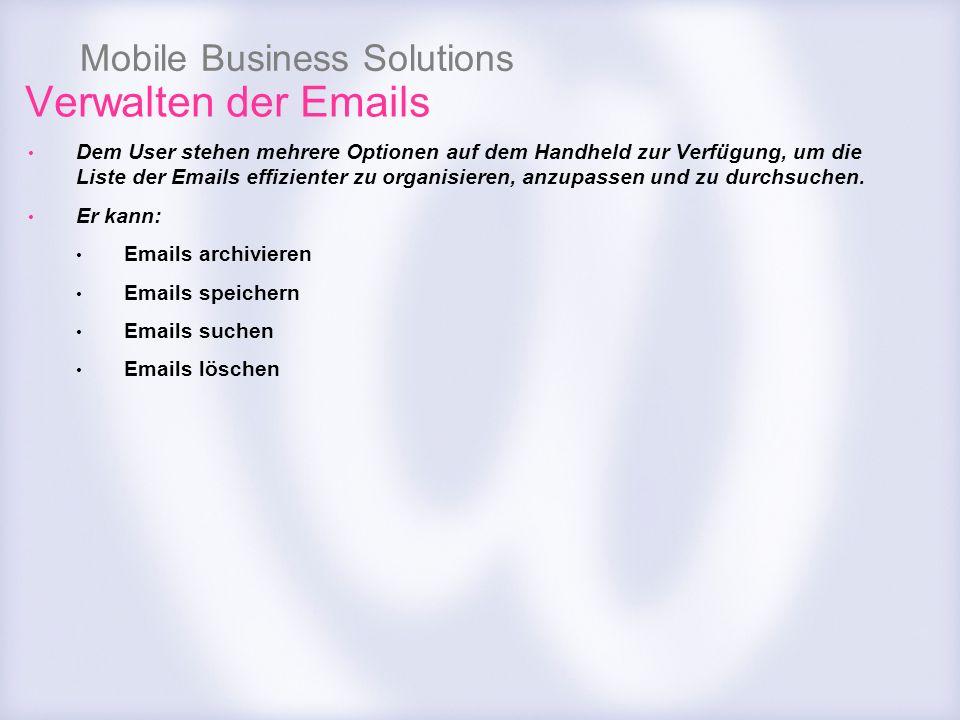 Verwalten der Emails