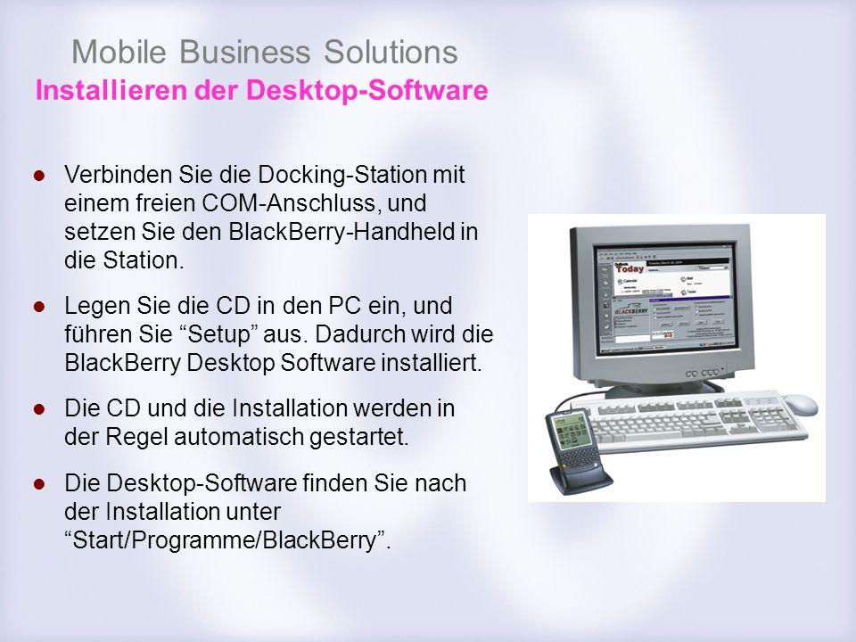 Installieren der Desktop-Software