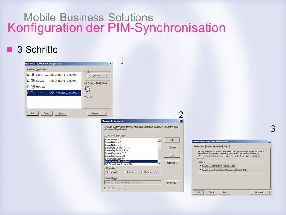 Konfiguration der PIM-Synchronisation