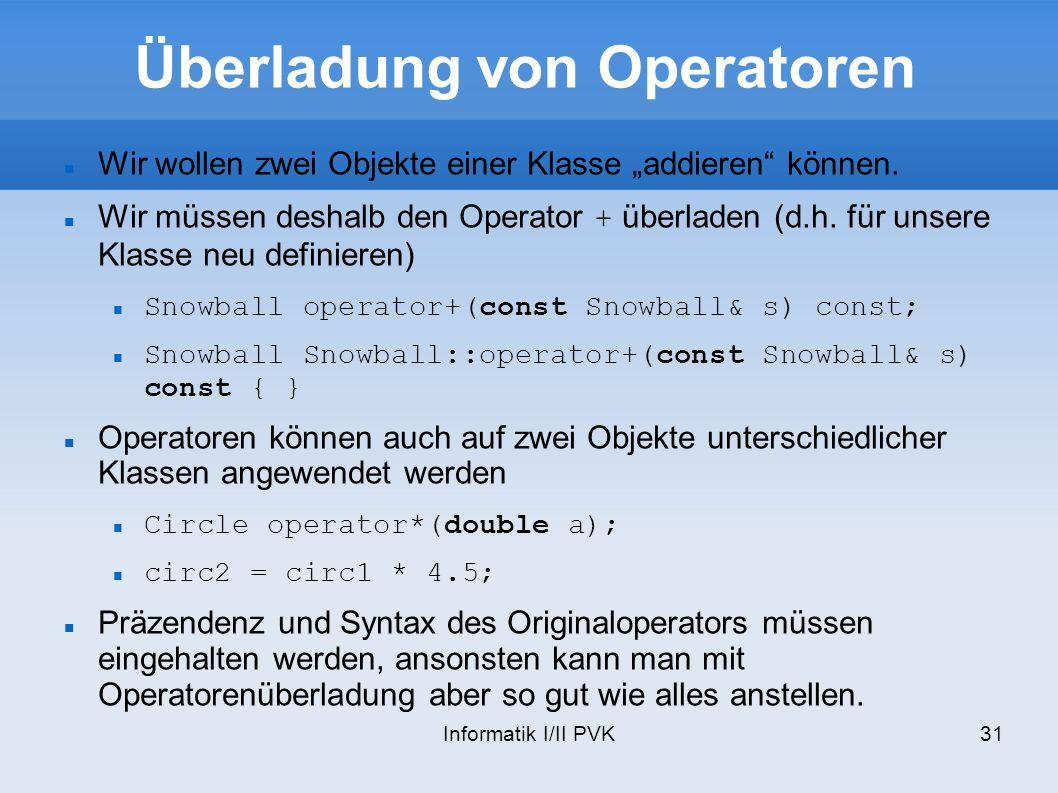 Überladung von Operatoren