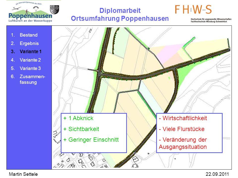 Diplomarbeit Ortsumfahrung Poppenhausen