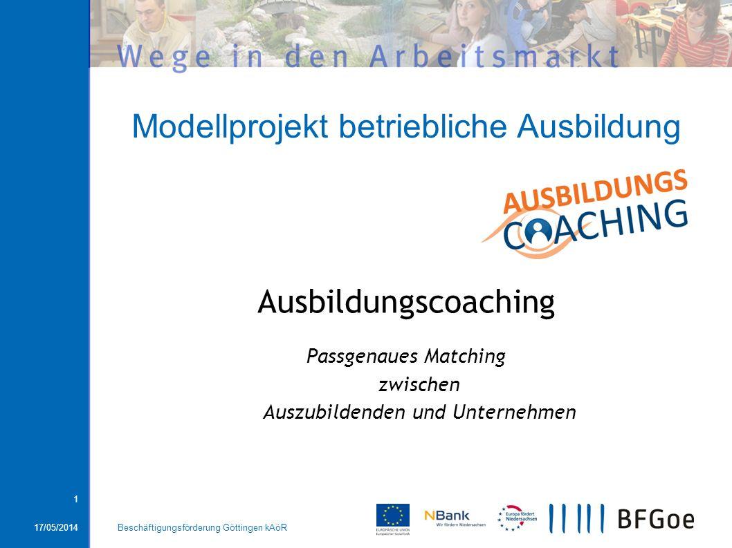 Modellprojekt betriebliche Ausbildung