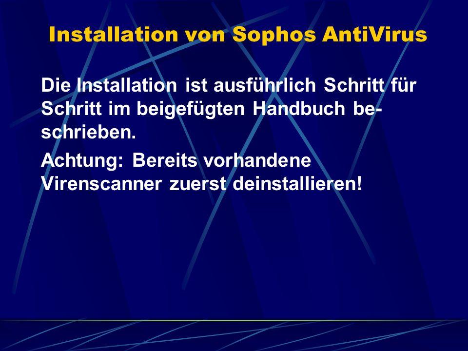 Installation von Sophos AntiVirus