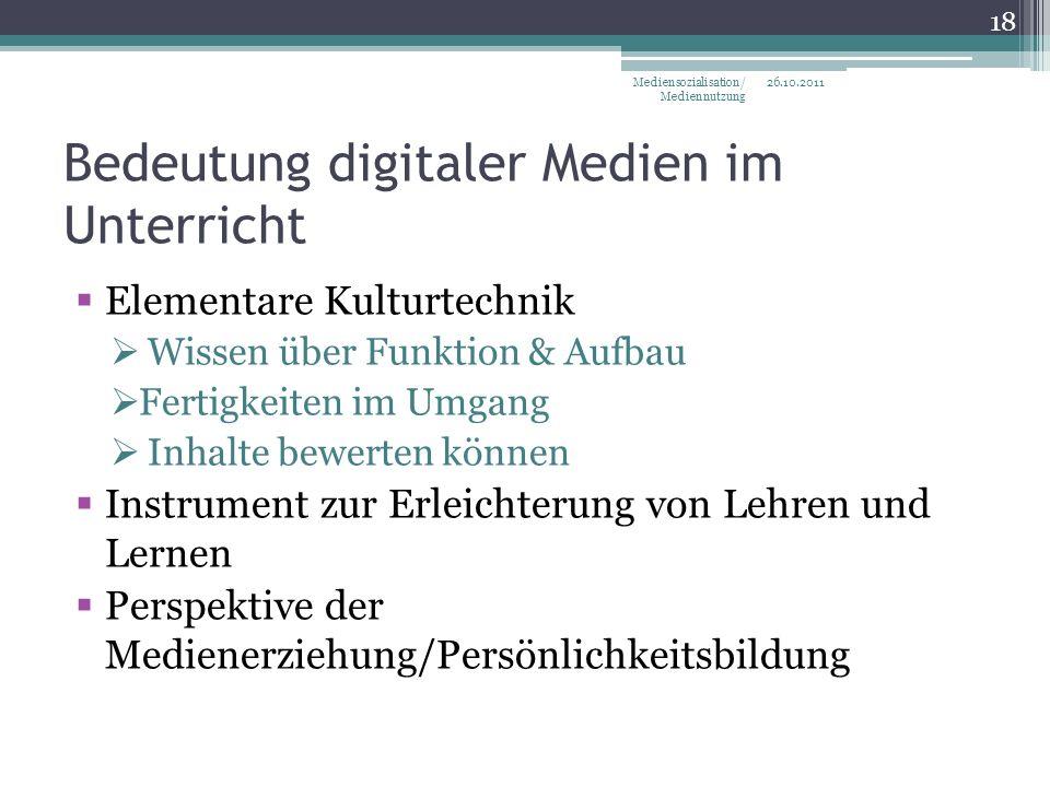 Bedeutung digitaler Medien im Unterricht
