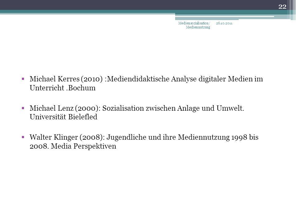 Mediensozialisation/ Mediennutzung