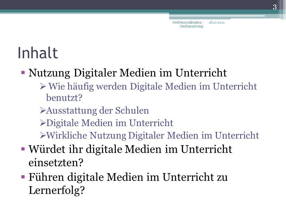 Inhalt Nutzung Digitaler Medien im Unterricht