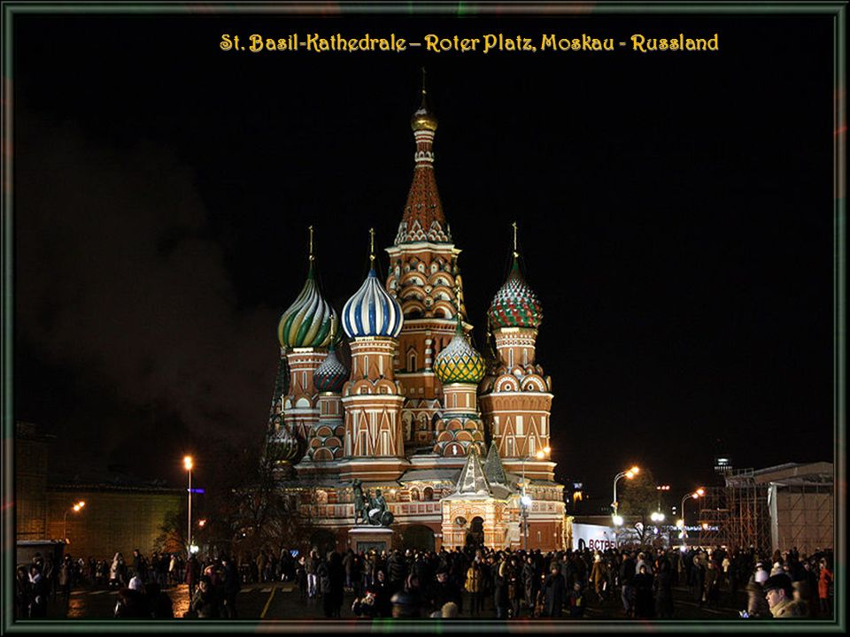 St. Basil-Kathedrale – Roter Platz, Moskau - Russland