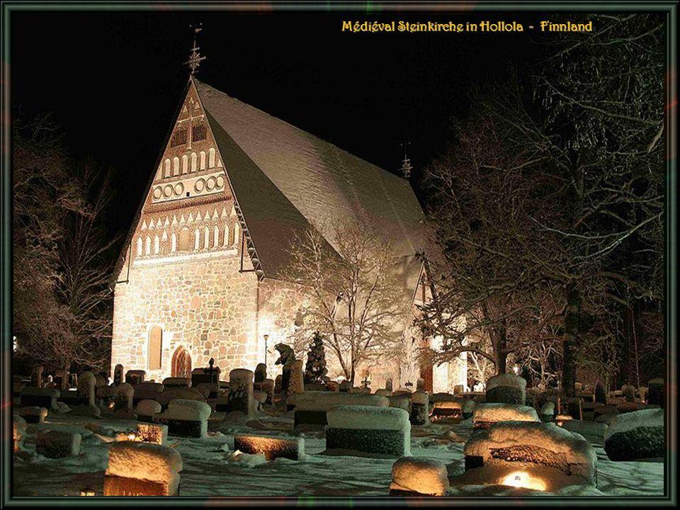 Médiéval Steinkirche in Hollola - Finnland