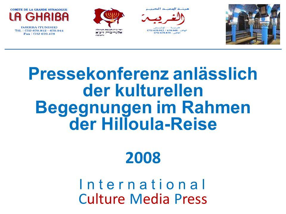 Pressekonferenz anlässlich der kulturellen Begegnungen im Rahmen der Hilloula-Reise