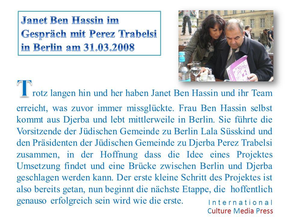 Janet Ben Hassin im Gespräch mit Perez Trabelsi in Berlin am 31. 03