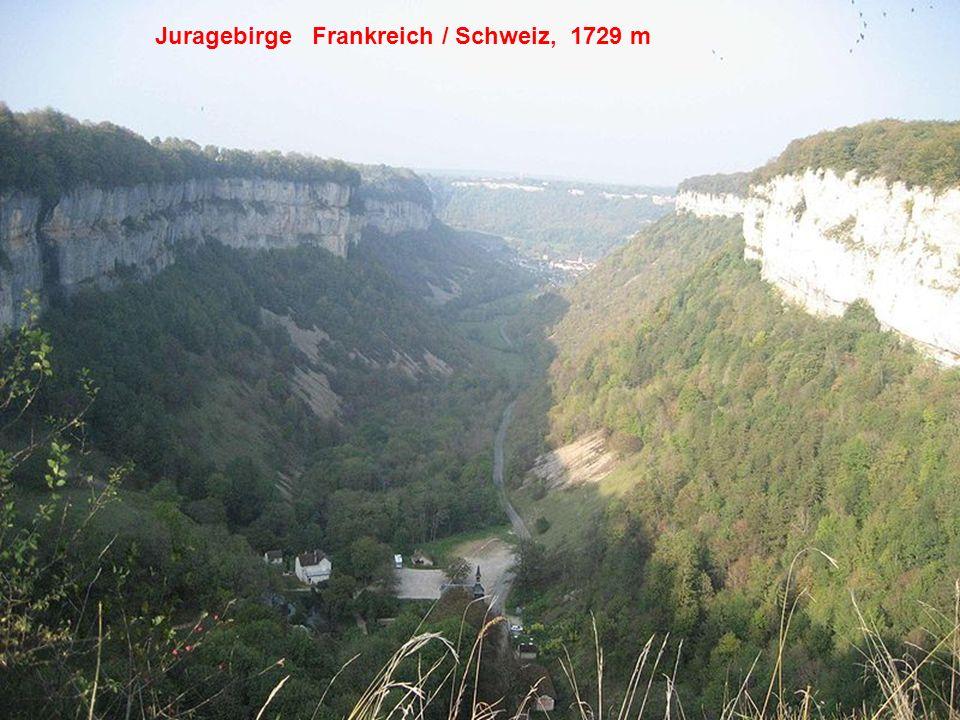 Juragebirge Frankreich / Schweiz, 1729 m
