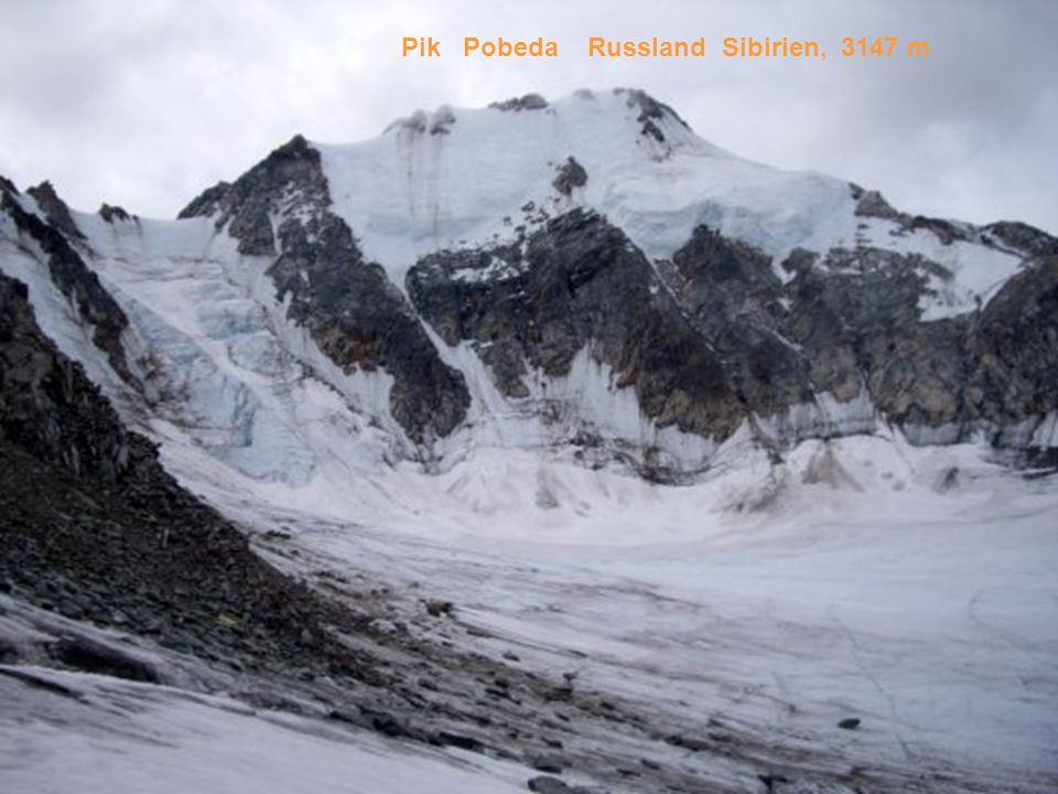 Pik Pobeda Russland Sibirien, 3147 m