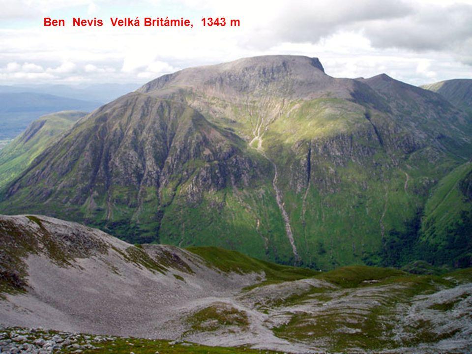 Ben Nevis Velká Britámie, 1343 m