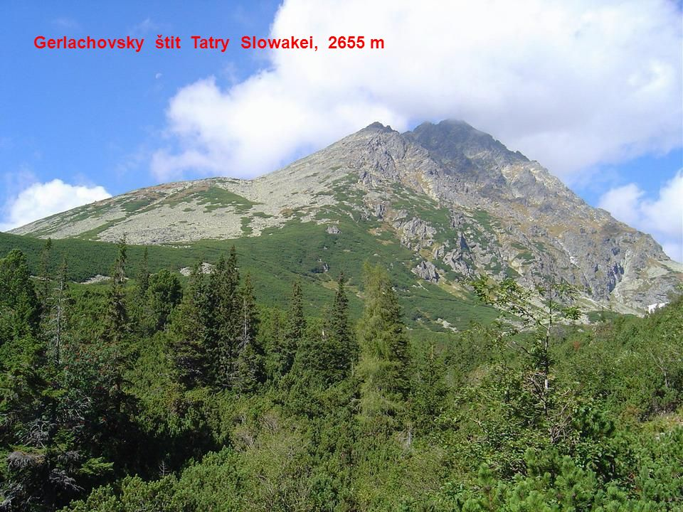 Gerlachovsky štit Tatry Slowakei, 2655 m