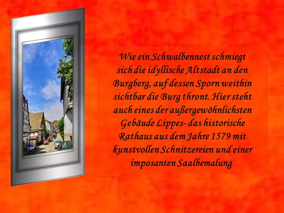 Wie ein Schwalbennest schmiegt sich die idyllische Altstadt an den Burgberg, auf dessen Sporn weithin sichtbar die Burg thront.