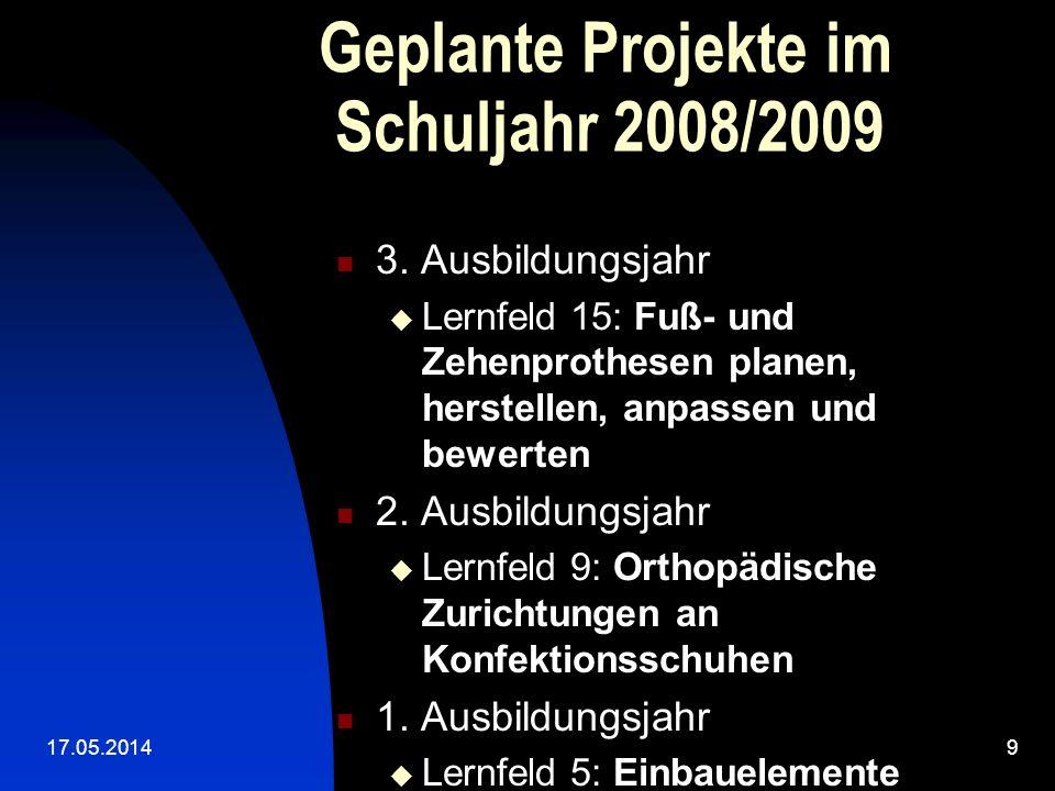 Geplante Projekte im Schuljahr 2008/2009