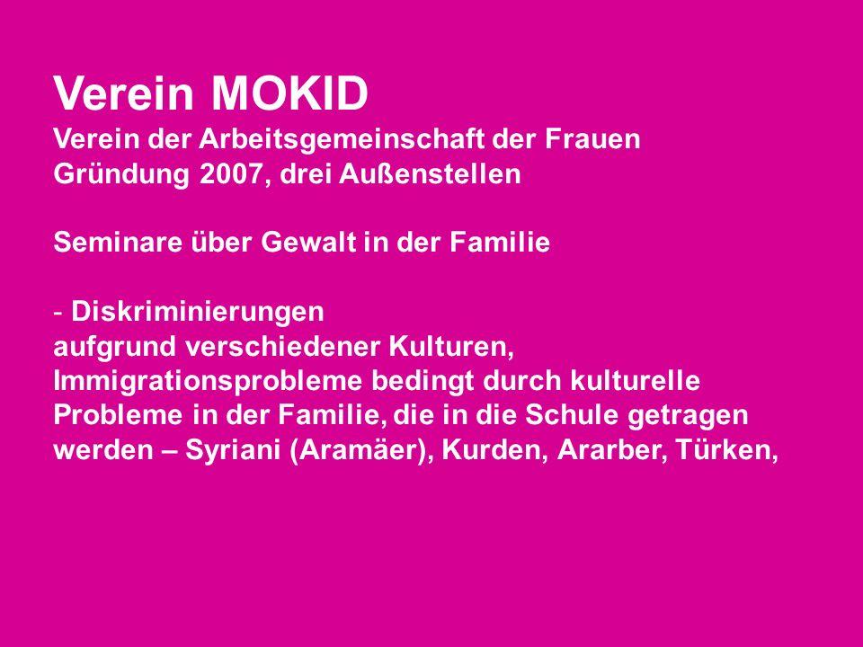 Verein MOKID Verein der Arbeitsgemeinschaft der Frauen